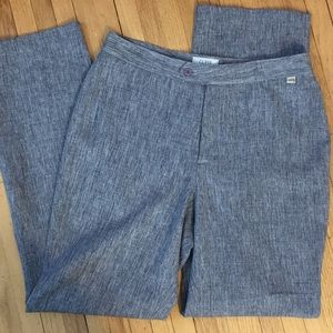 Guess Dress Pants Heathered Blue Career Trousers